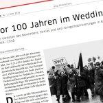 Vor 100 Jahren im Wedding