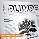 Die erste PLUMPE ist als Ausgabe #1 erschienen